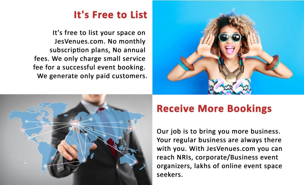 Free to List, Receive More Bookings