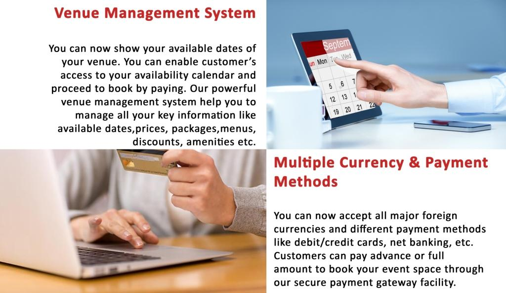 Venue Management System, Multiple Currency Payment Options
