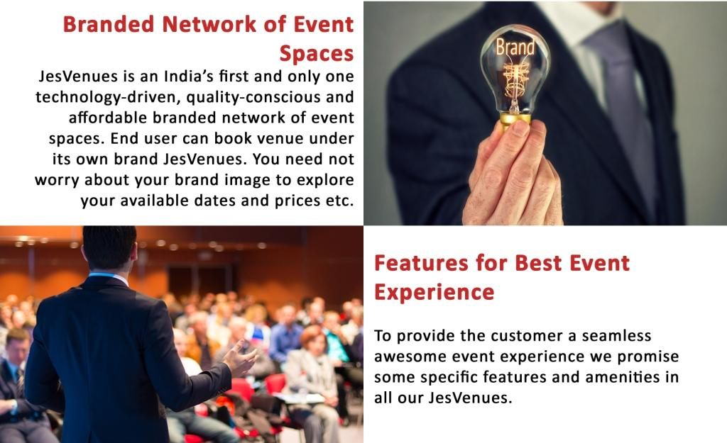 Branded Network of Event Spaces, Features for Best Event Experience