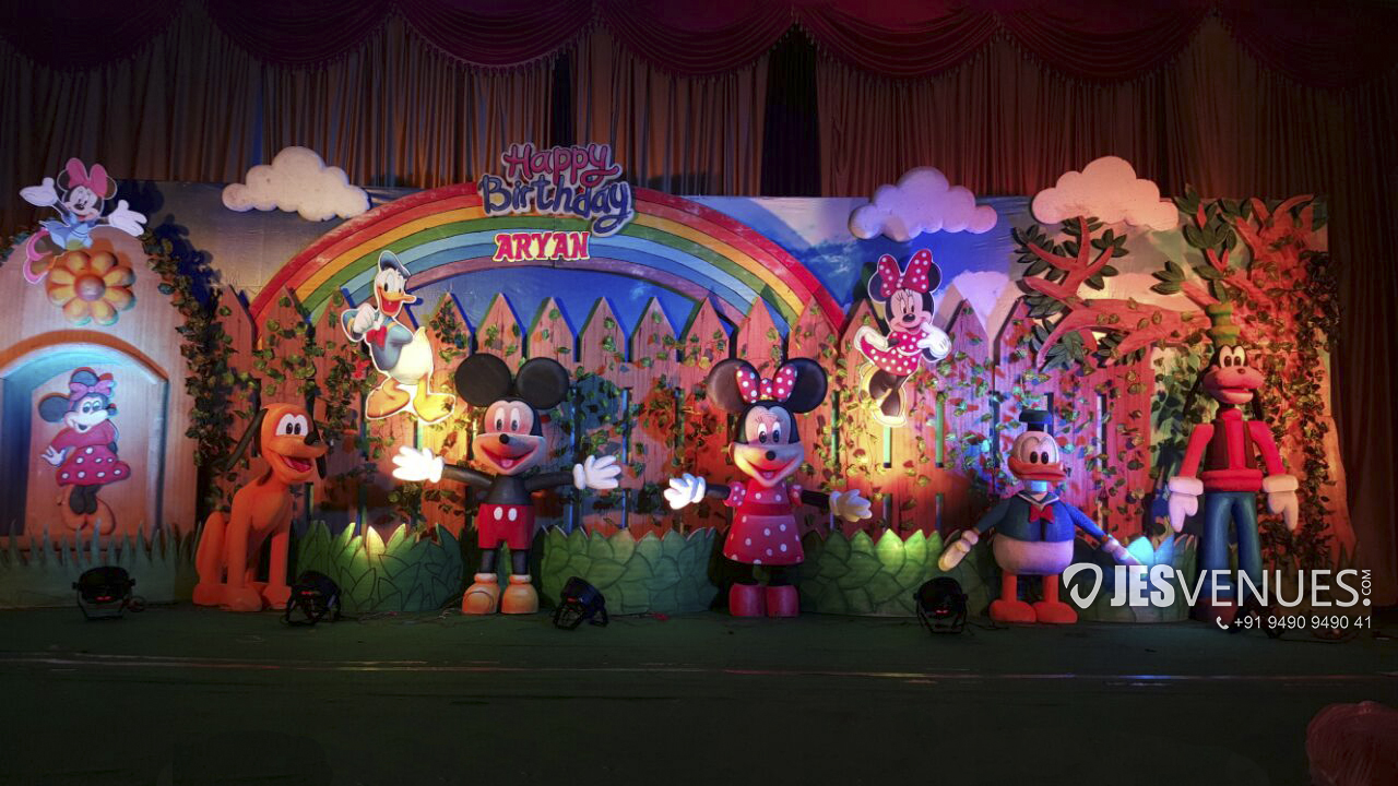 Disney Theme Decoration For Birthday Party Or Kids Party