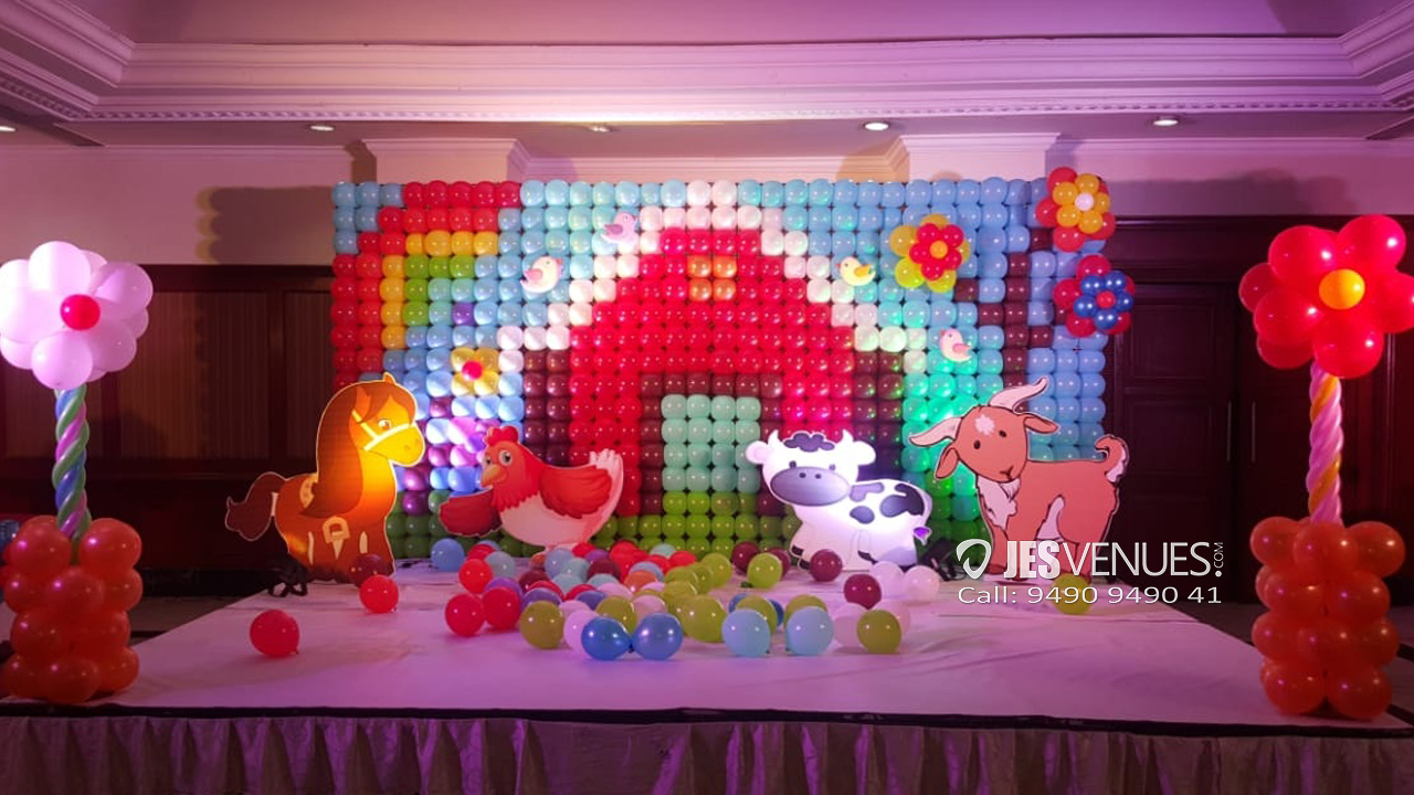 Old Mc Donald Theme Balloon Wall Decoration For Birthday Party Or Kids Party
