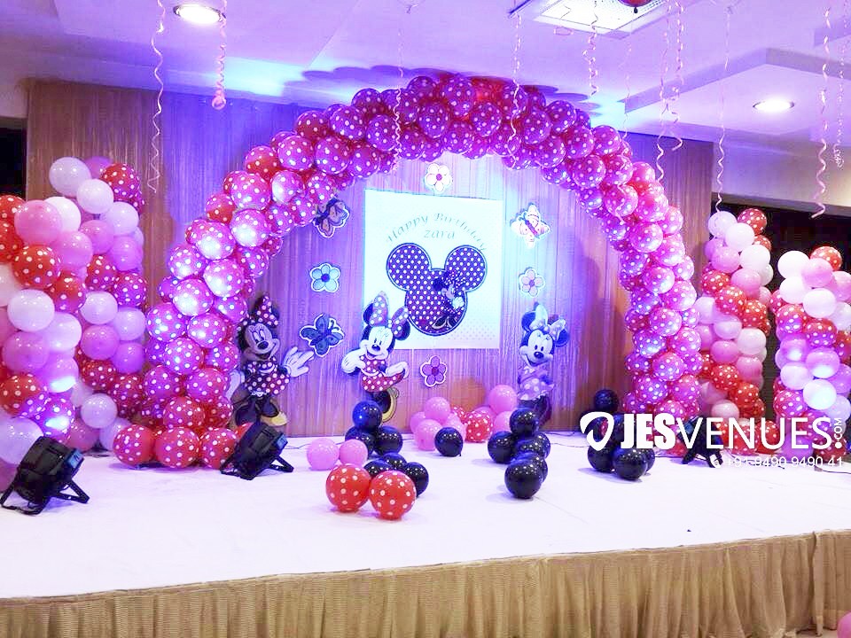Minnie Theme Balloons Decoration For Birthday Party Or Kids Party