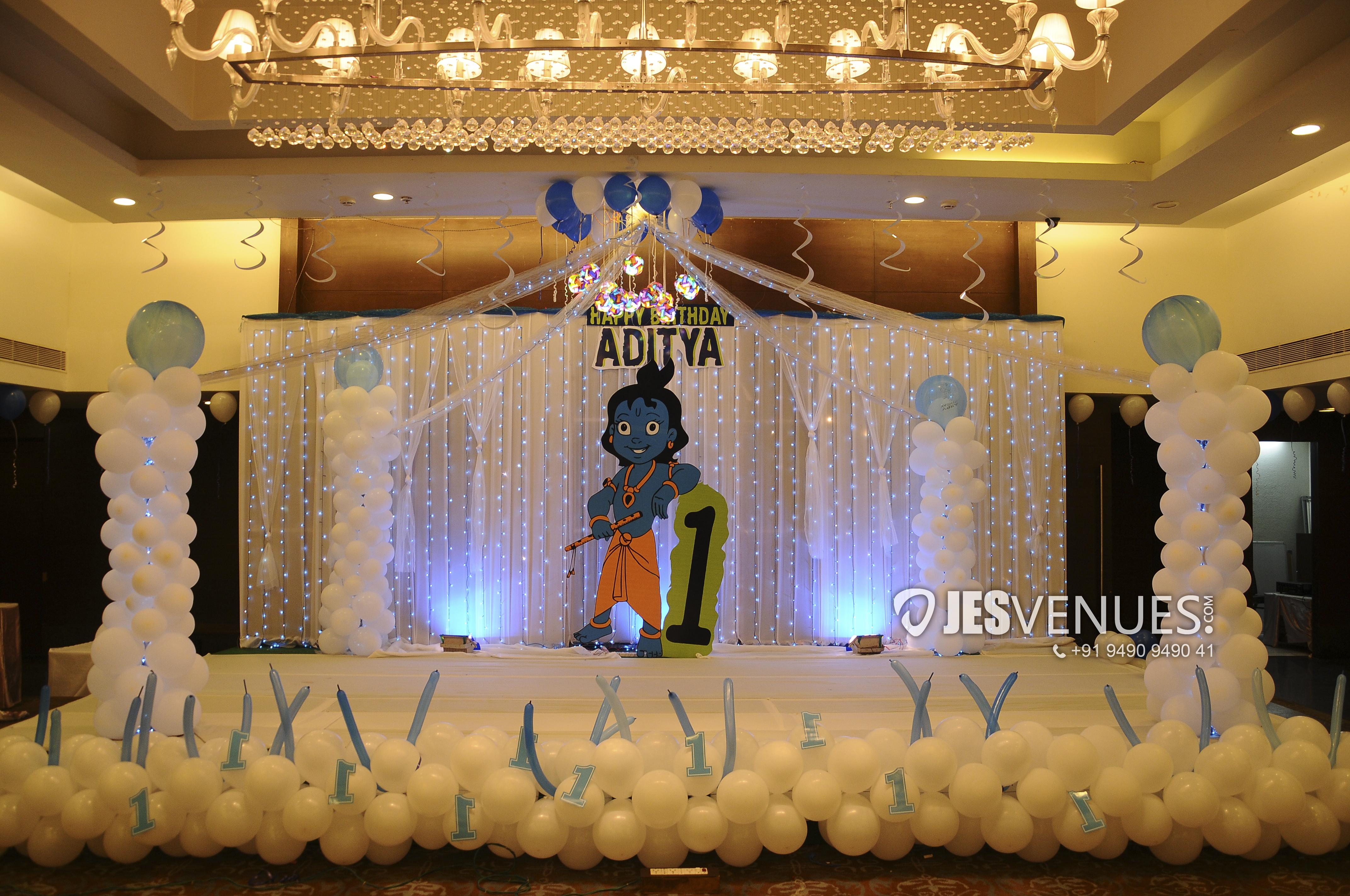 Little Krishna Theme Balloon Decoration For Birthday Party Or Kids Party