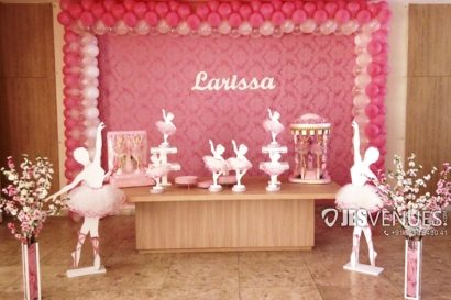 Dancing Girl Theme Simple Balloon Decoration For Birthday Party Or Kids Party