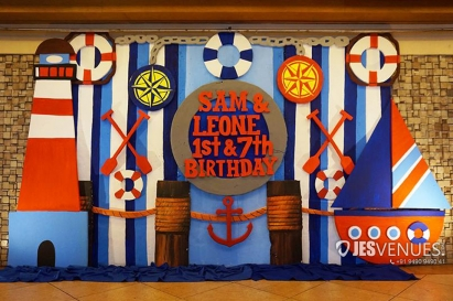 Simple Sailors Theme Decoration For Birthday Party Or Kids Party