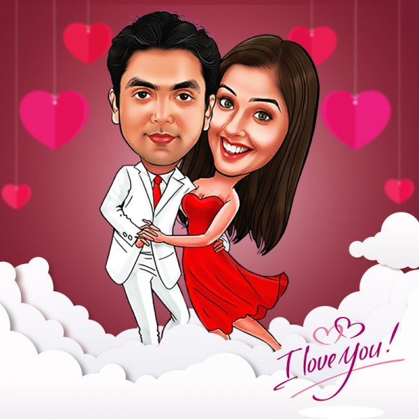 Couple Digital Caricature