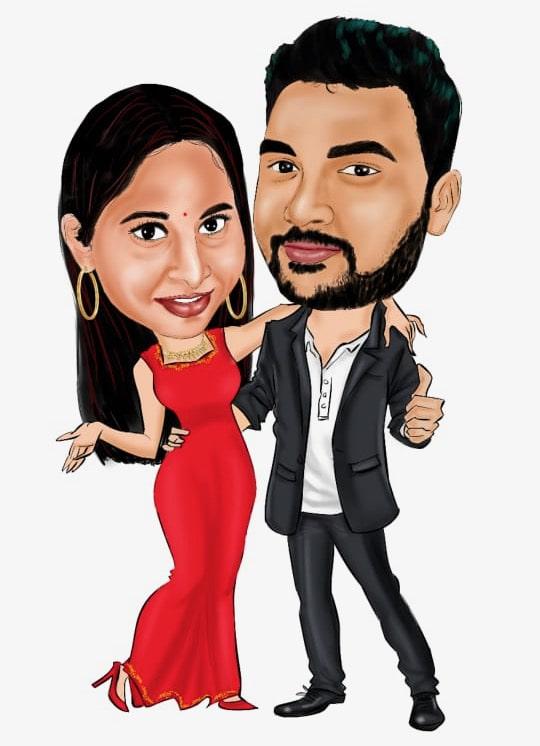 Couple Digital Caricature